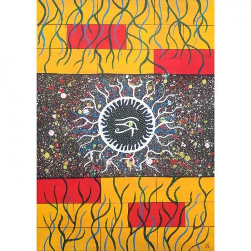 horo akis, horas, akis, aliejine tapyba, tapyba, paveikslas, paveikslai, menas, abstrakcija, fantastinis paveikslas, Gediminas Bytautas