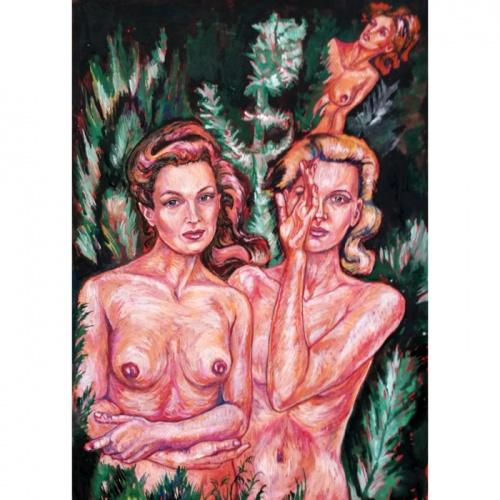 paparcio ziedai, paparcio, ziedai, erotinis paveikslas, erotika, erotinis, erotiniai paveikslai, erotinis menas, menas, paveikslas, paveikslai, Odile norvilaite, bytautiene
