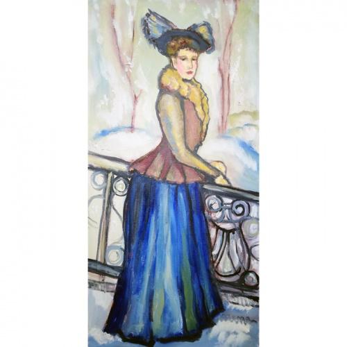grafiene, grafiene laukia pavasario, laukia, pavasario, laukia pavasario, tapyba, paveikslai, paveikslas, menas, aliejine tapyba, Odile Norvilaite