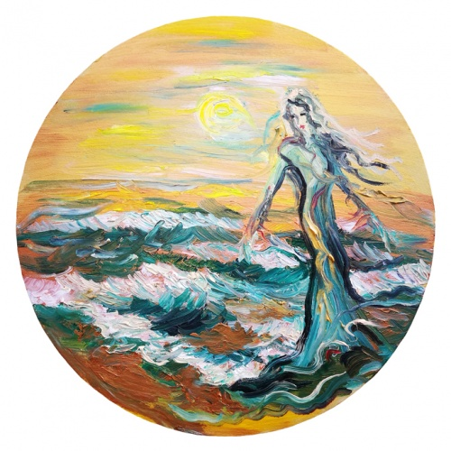 mermaid, marinistic, oil painting, marinistic oil painting, oil, paintings, painting, art, marinistic art, women, Odile Norvilaite, bytautiene