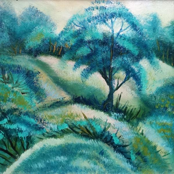 lyriskas peizazas, peizazas, lyriskas, odile norvilaite, tapyba, menas, paveikslai, paveikslas, tapytas paveikslas