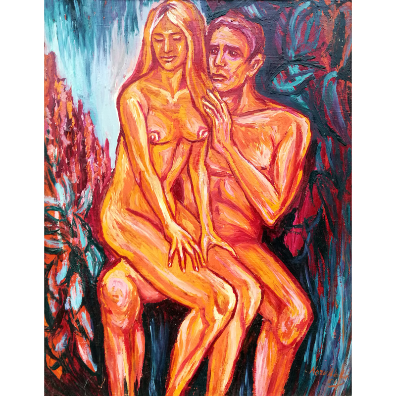 charming blonde, blonde, charming, erotica, erotic, erotic painting, painting, paintings, art, oil painting, Odile