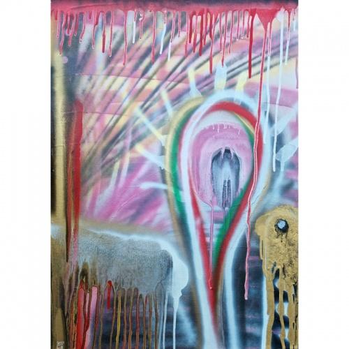Kai bunda diena, Gediminas Bytautas, kai bunda, bunda diena, paveikslas, paveikslai, tapyba, when the day wakes up, the day, wakes up, day wakes up, painting, original art, paintings